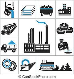 Schwere Industrie-Ikonen