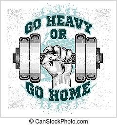 Schwere Klinge in der Hand. Grunge Style Illustration.