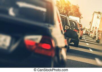 Schwerer Straßenverkehr