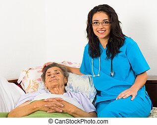 Schwester für ältere Patienten.