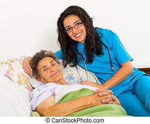 Schwester für ältere Patienten