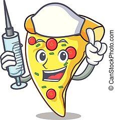 Schwester-Pizza-Charakter-Cartoon.