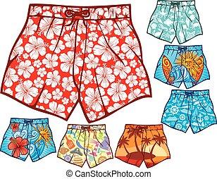 Schwimm Shorts Sammlung.