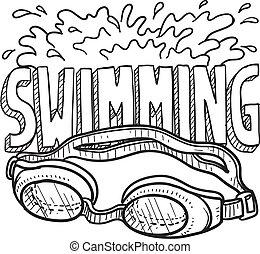 Schwimm-Sketch