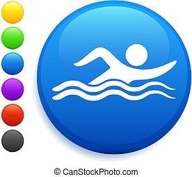 Schwimmende Icon im Internet-Knopf
