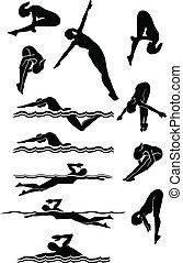 Schwimmende & Taucherinnen