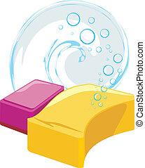 Schwingt mit Seifenblasen