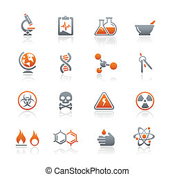 Science Icons / Graphite Serie.