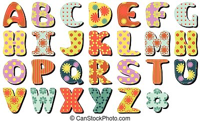 Scrapbook Alphabet.