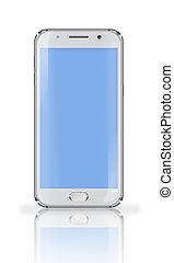 screen., telefon, blaues, beweglich
