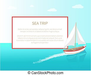 Sea trip-Poster Rahmen modernen Yachtschiff