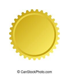 seal., gold, farbe, logo, vektor, freigestellt, abzeichen, design