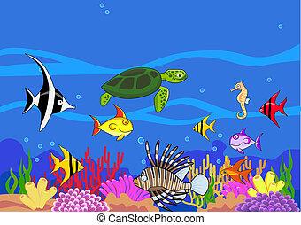 Sealife Cartoon.