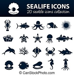 Sealife Icons.