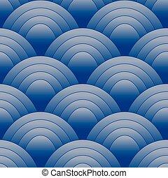 Seamles oval Muster blau.