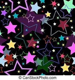 Seamless Background mit Sternen (vektor)