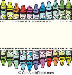 Seamless Crayon Grenz