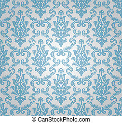 Seamless damask Muster (vektor)