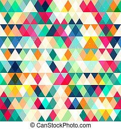 seamless, dreieck, pattern.