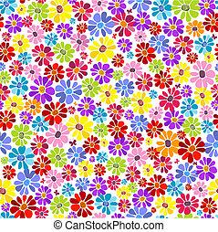 Seamless floral vivid Muster