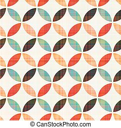 Seamless geometrisches Kreislaufmuster
