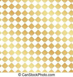 Seamless gold Art deco Fanmuster Hintergrund.