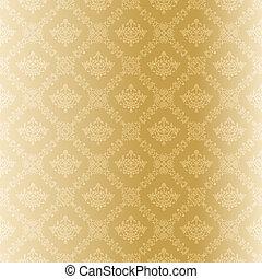 Seamless gold filigree Muster