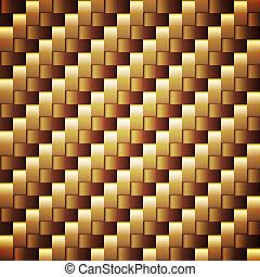 Seamless Golden webbed Vektor Quadrat-Strukturen.