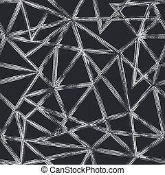 seamless, monochrom, dreieck, pattern.