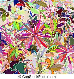 Seamless multicolor-Foralmuster