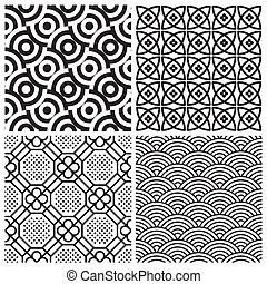 Seamless Muster festgelegt (vektor)