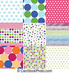 Seamless Muster, Polka Dot Set