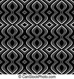 Seamless Op Art Textur.