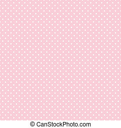 Seamless Polka Dots auf Pastel Pink