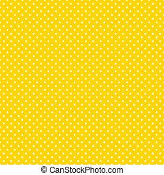 Seamless Polka Dots, hellgelb