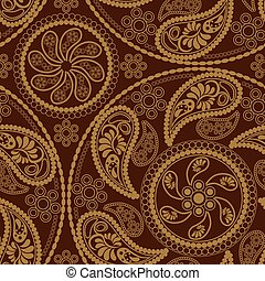 Seamless retro mandala Muster