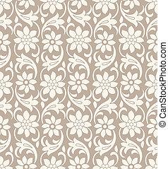 Seamless Vektor-Blumenpapier