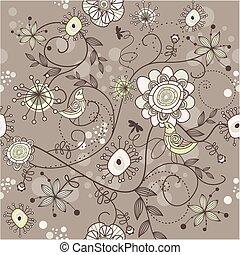 Seamless Vektorfloral Hintergrund