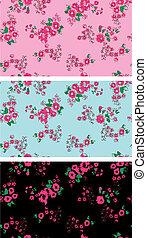 Seamless Vintage-Rosen-Blumen Tapete