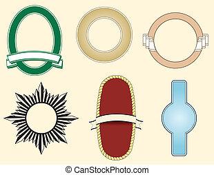 Sechs Elemente für Logos