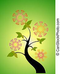 Seebaum und Blume