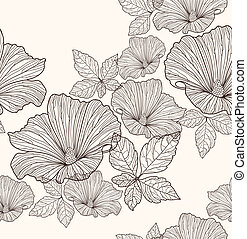 Seelose Blumenmuster