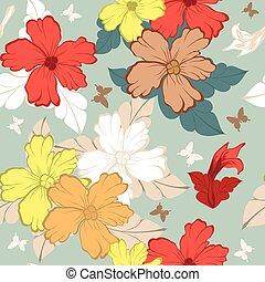 Seeloses Blumenmuster.