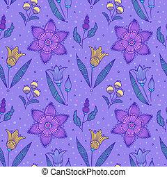 Seeloses Veilchen mit gestreiften Blumen