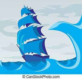 Seemann im Meer - Geist des Adven