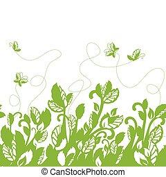 Seemlose grüne Laubgrenze