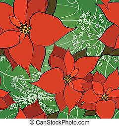 Seemloser Poinsettia Hintergrund.