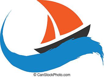 Segelboot auf dem Wasser.