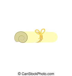 seil, vektor, freigestellt, gold, certficate, design