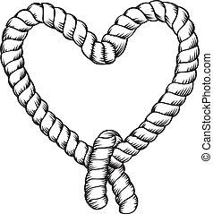Seile machen Herzform